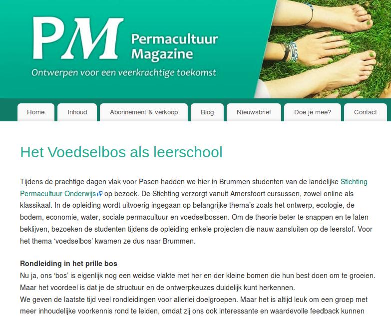 Het Voedselbos als leerschool_PermacultuurMagazine_blog_mei_2019